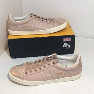 Gola Orchid Shimmer Blush Pink Lace Up Sneaker 10